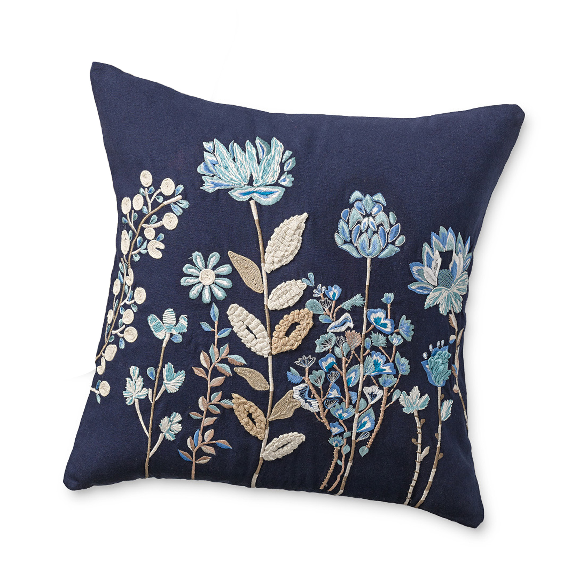 Bennington Handstitched Pillow, Blue