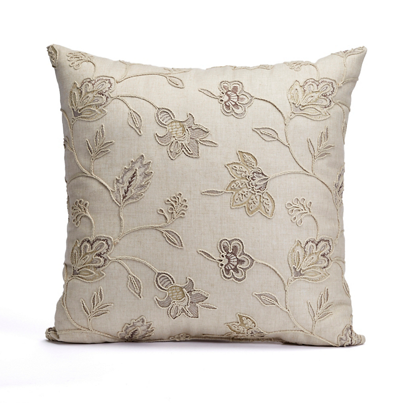 Bennington Handstitched Pillow, Ivory