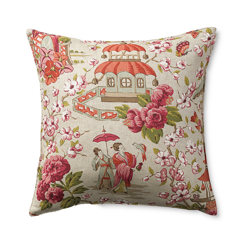 Teahouse Tea Garden Pillow