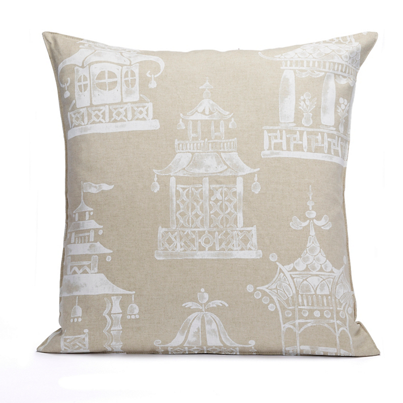 Teahouse Pagoda Pillow