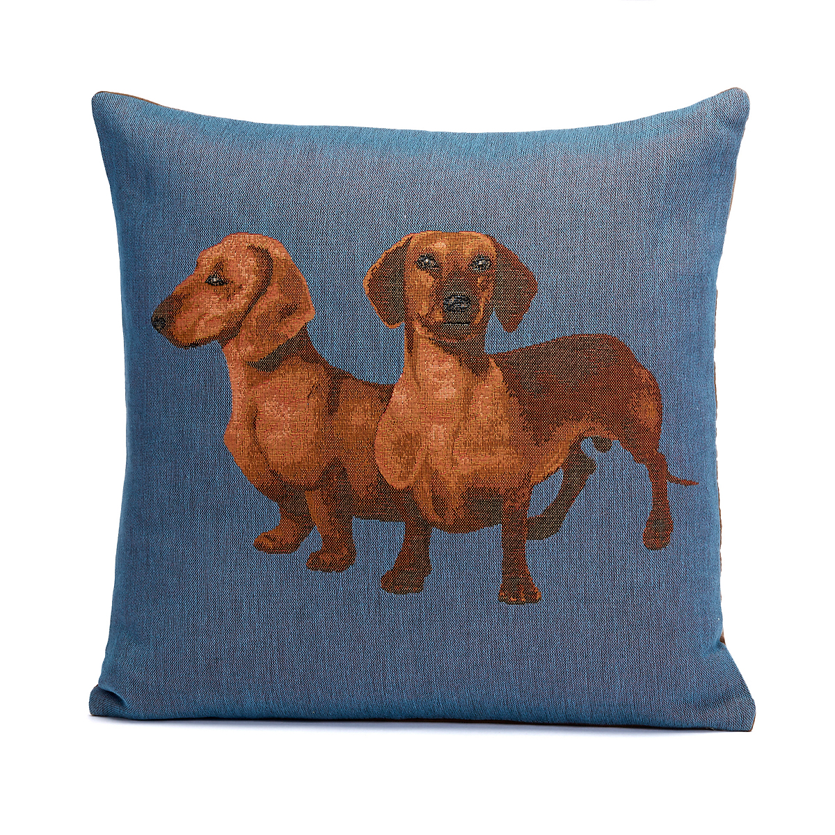 French Tapestry Pair Of Dachshunds Pillow