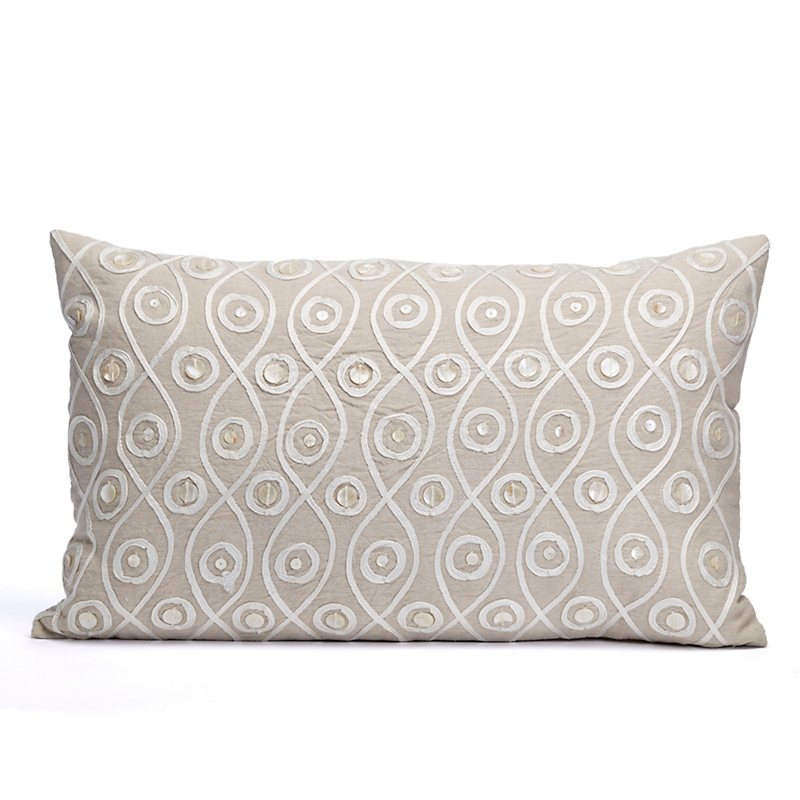 Luxe Textured Crewel Pillow