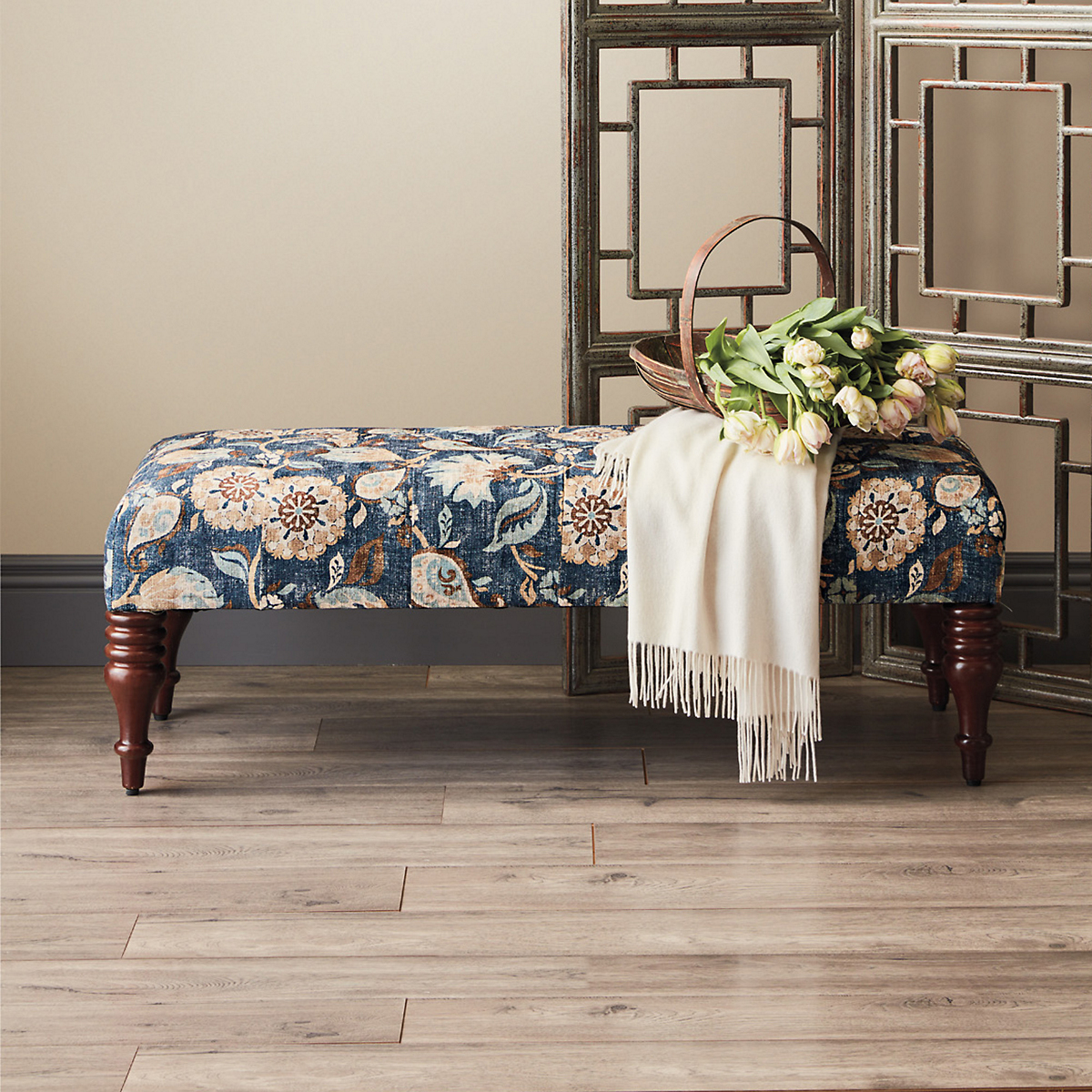 Everly Paisley Bench