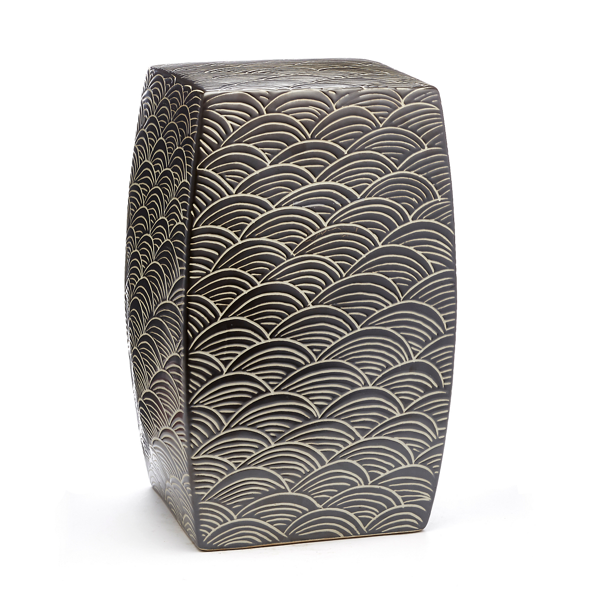 Wave Square Garden Stool