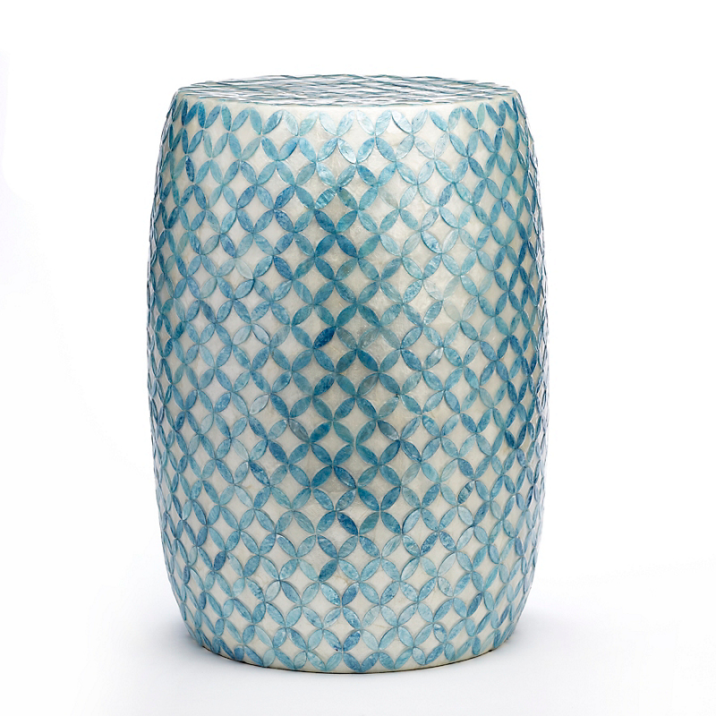 Lattice Capiz Shell Garden Stool