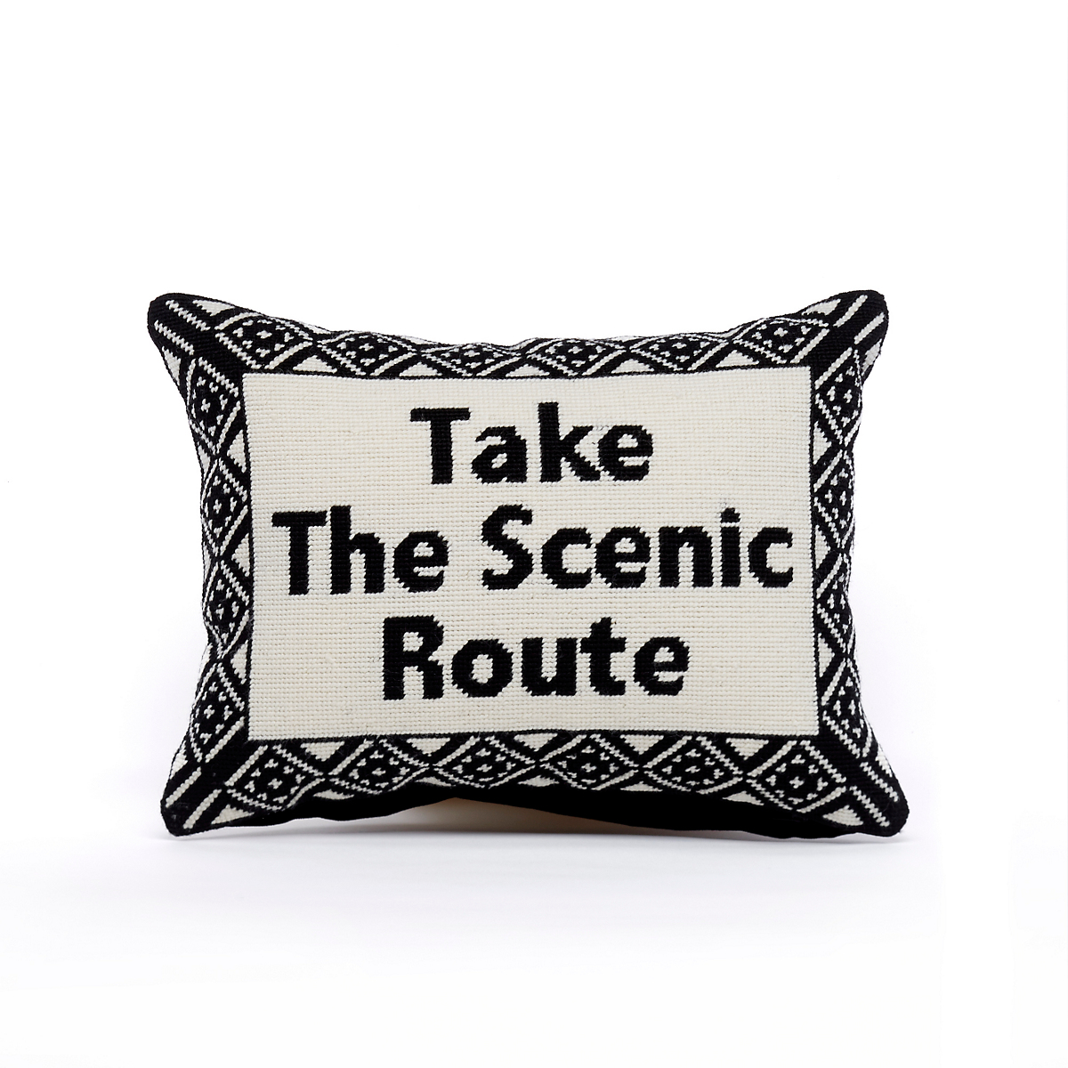 Wild World 'Scenic Route' Needlepoint Pillow""