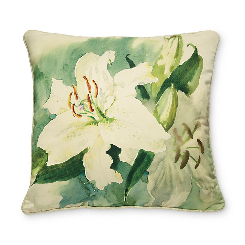 White Lily Pillow