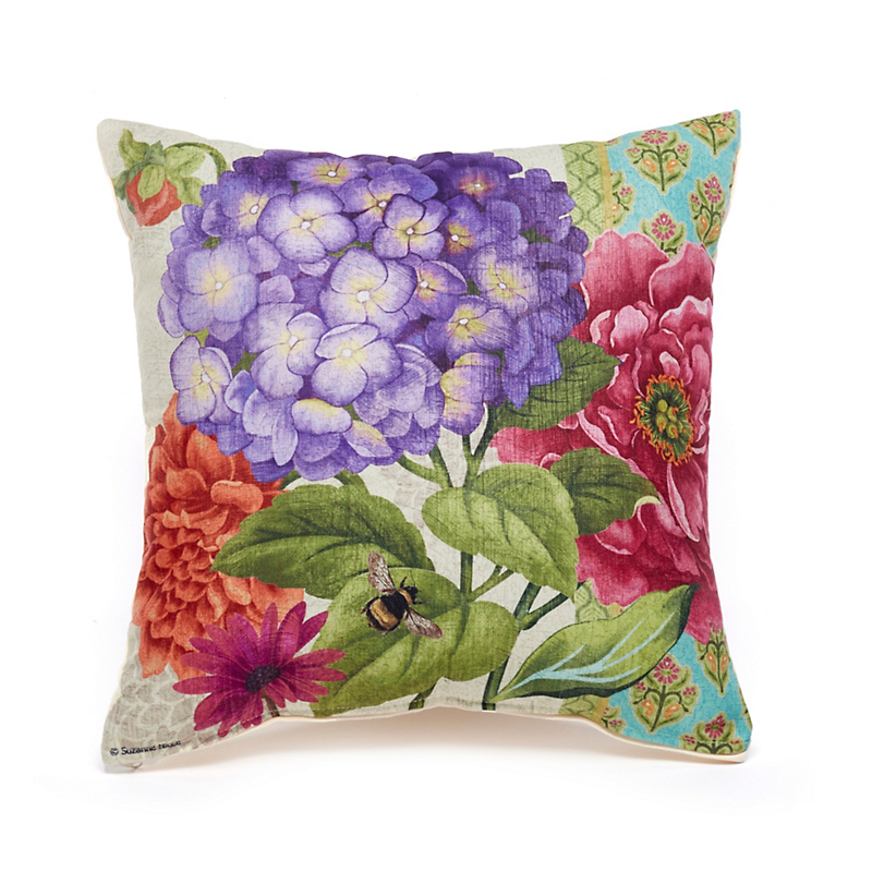 Sunroom Purple Hydrangea Outdoor Pillow
