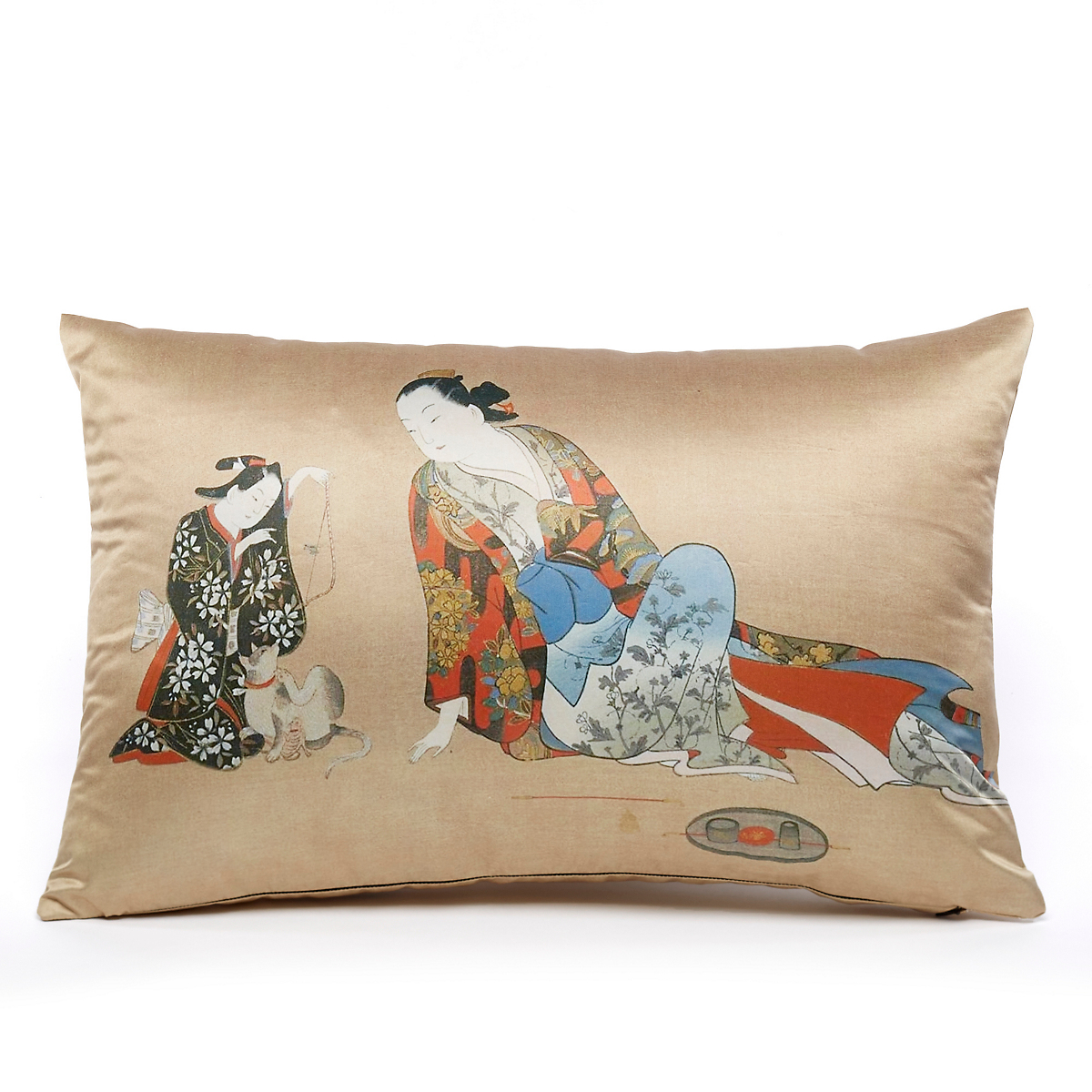 Geishas At Rest Pillow