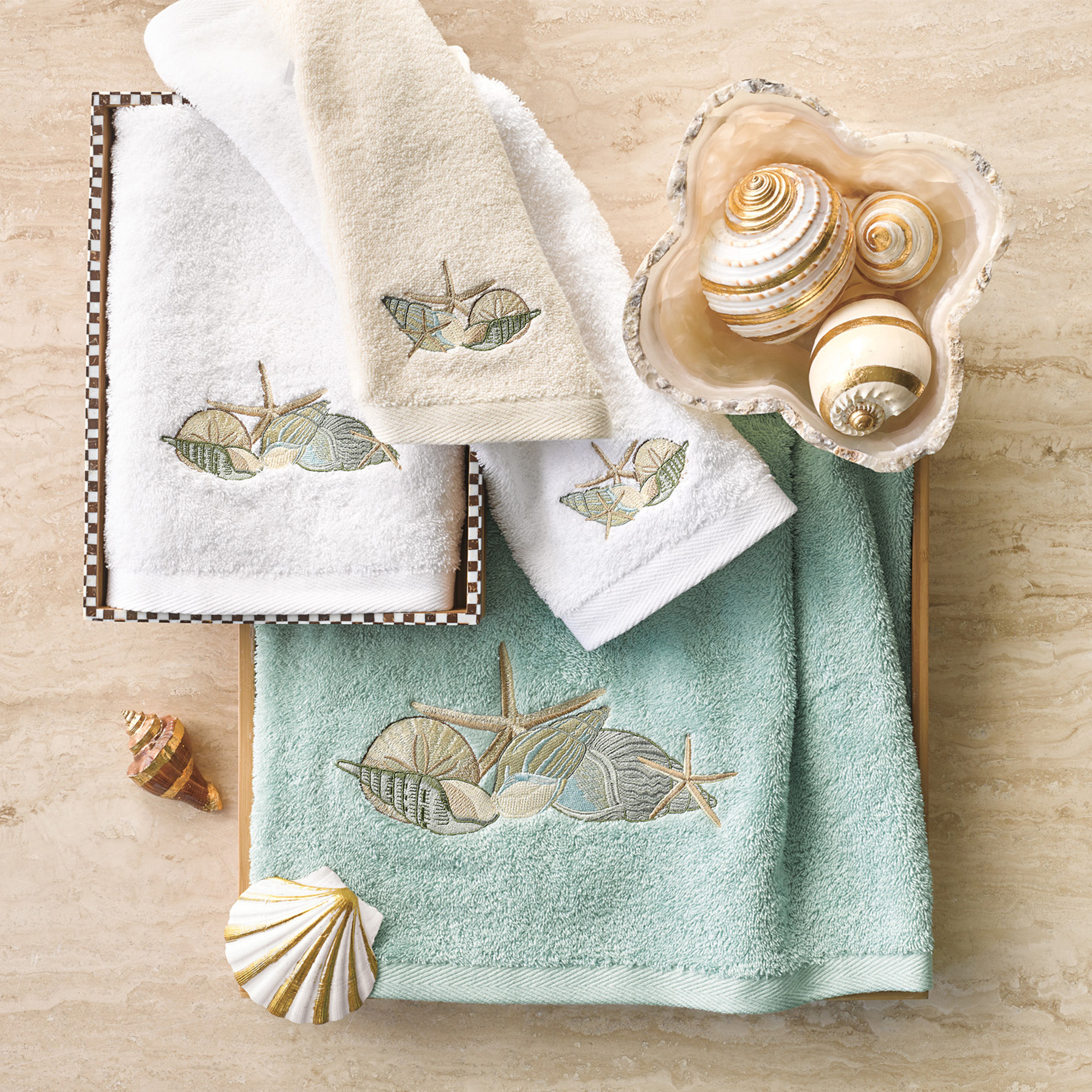 Seashell Towels