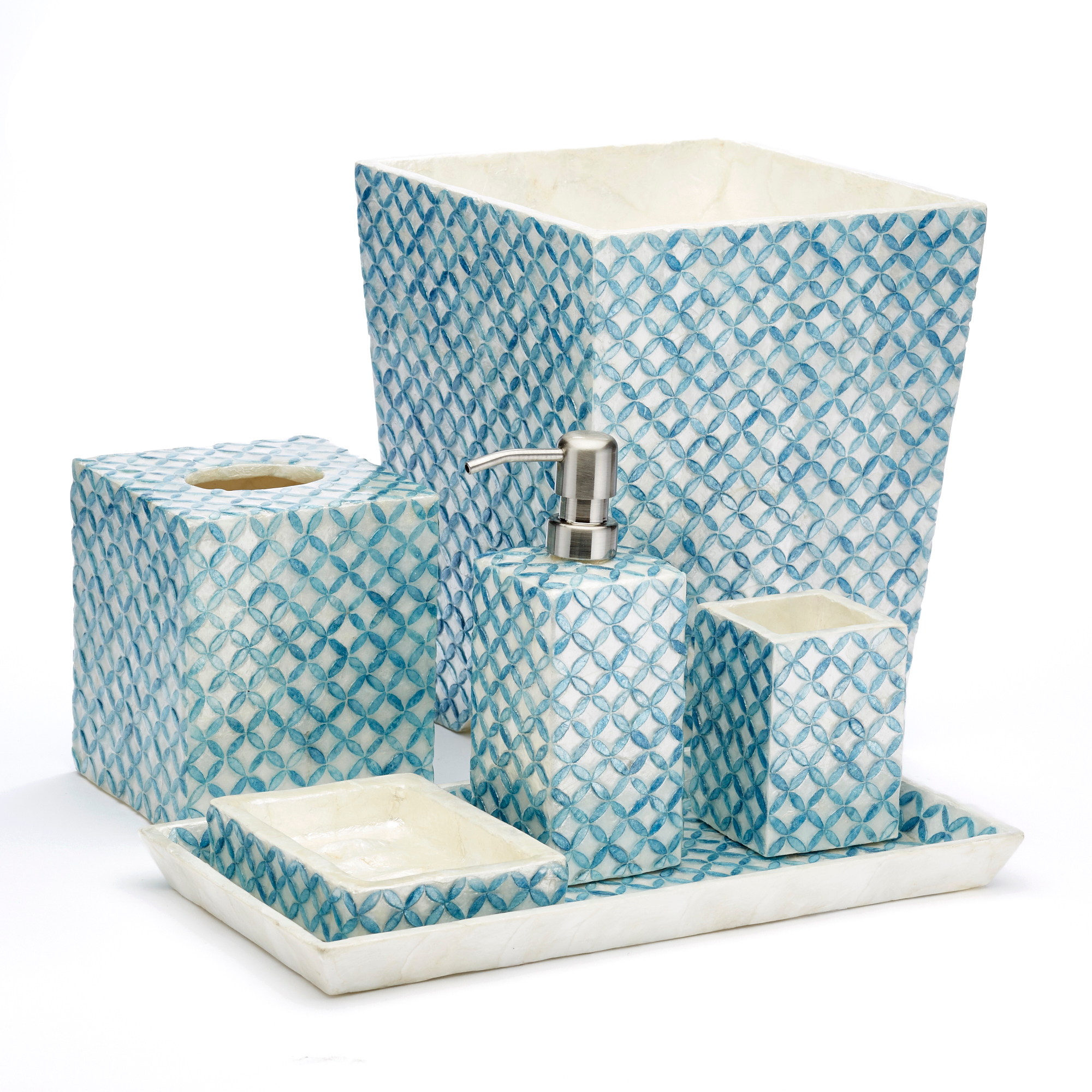 Lattice Capiz Shell Bathroom Accents