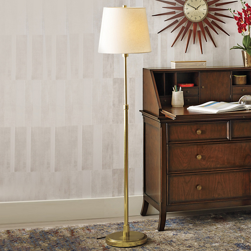Townhouse Brass Floor Lamp