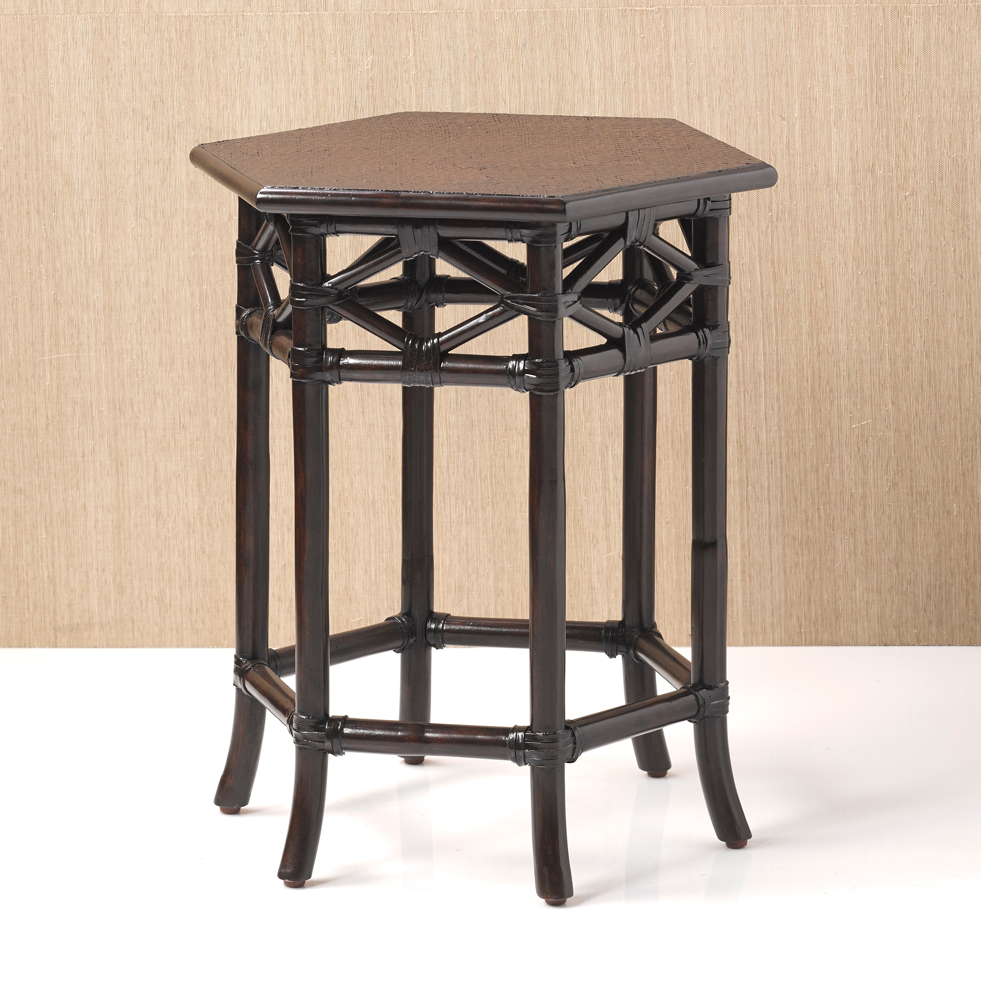 Balboa Hexagon Rattan Table