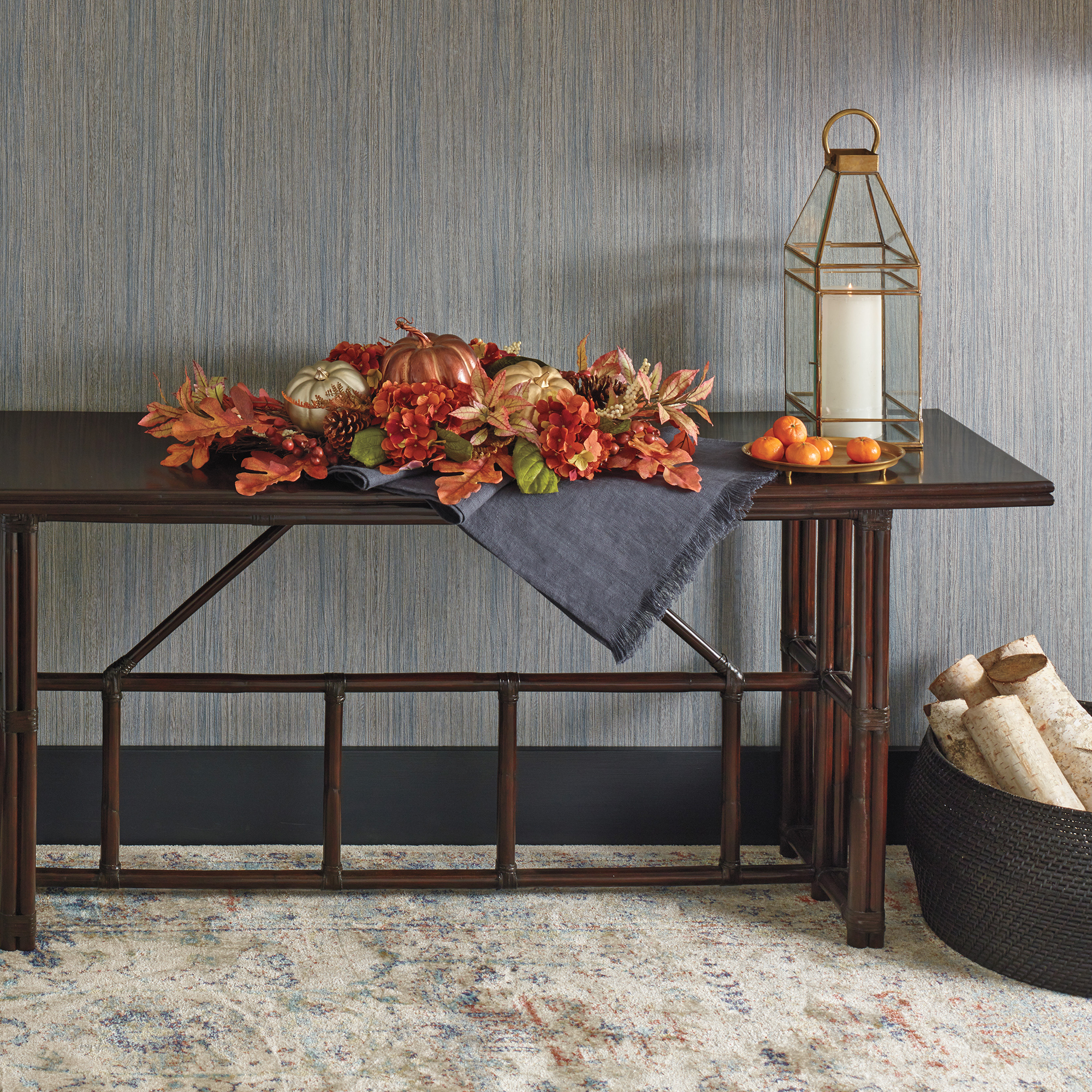 Laguna Rattan Console Table