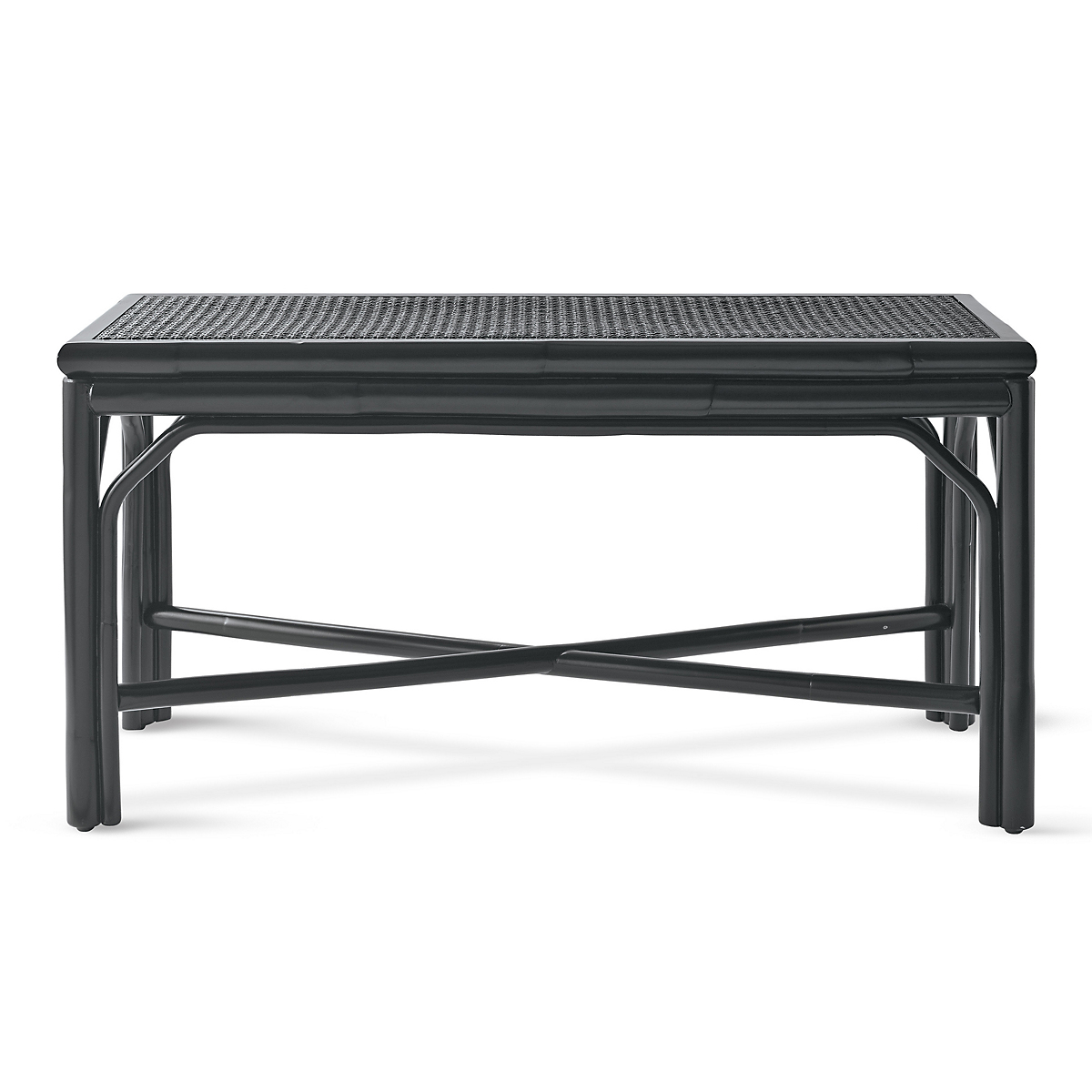Black Cane Bench
