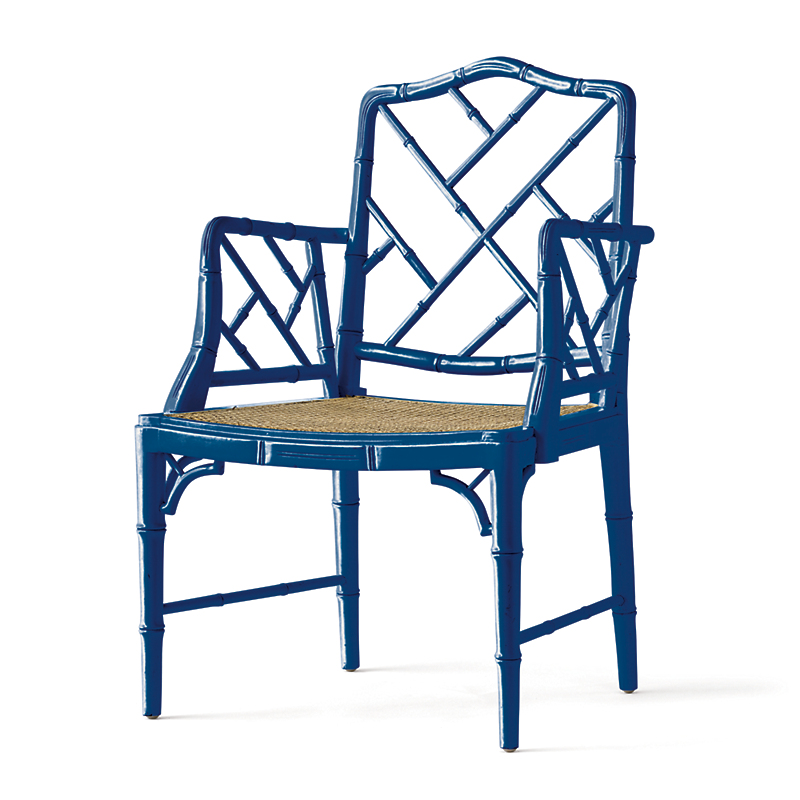 Cobalt Blue Grayson Armchair & Cushion