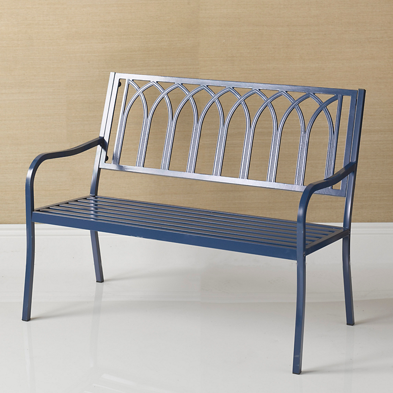 Del Mar Lattice Bench, Navy