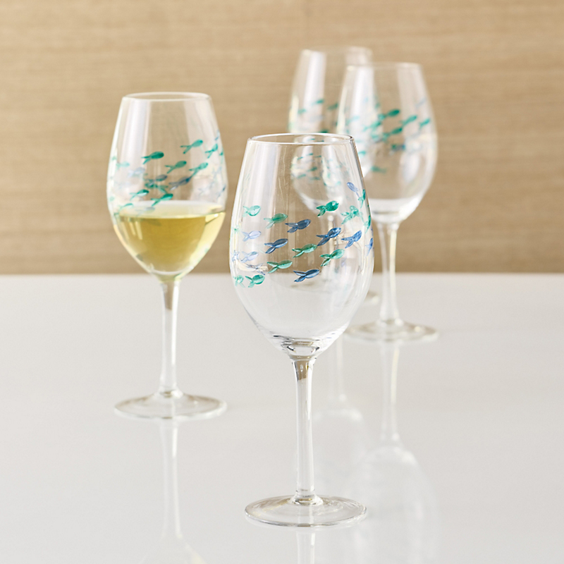 Fish Wineglasses, Set Of 4