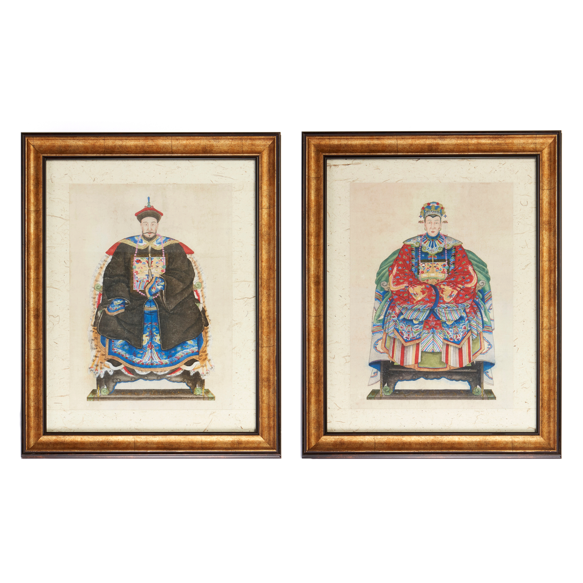 Qing Dynasty Courtier Prints