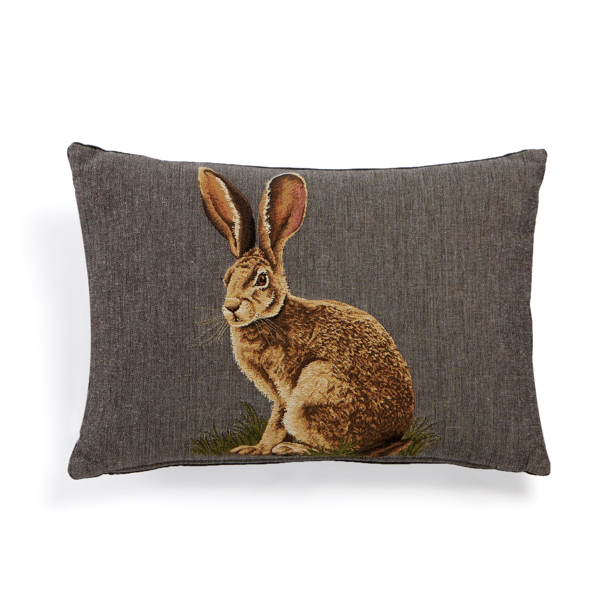 Wild Hare Tapestry Pillow