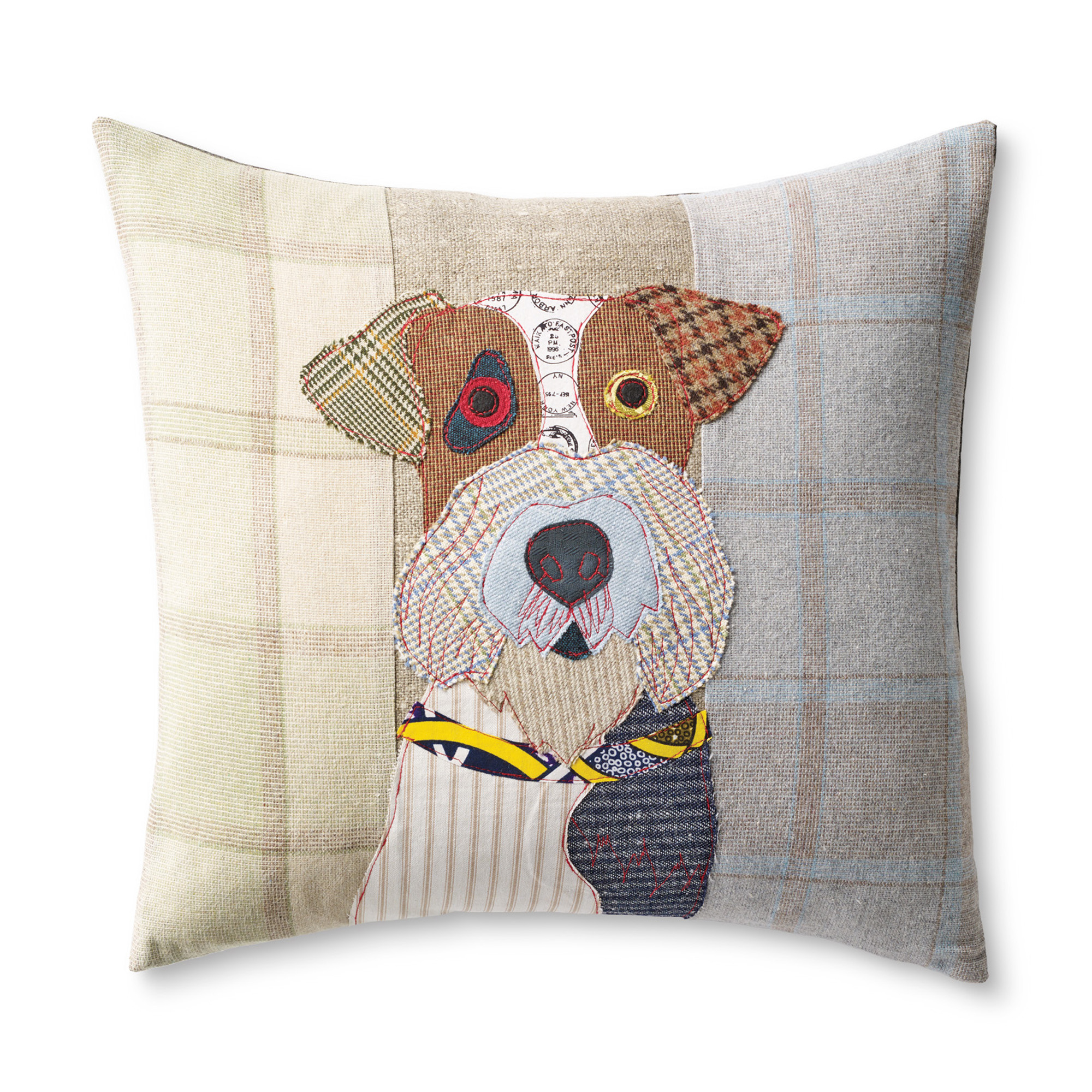 Freddy The Fox Terrier Dog Day Afternoon Pillow   Gump\'s