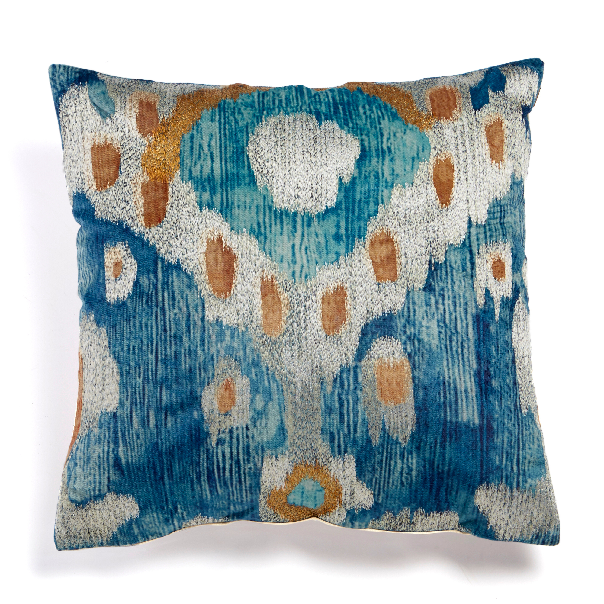 Velvet Ikat Square Pillow