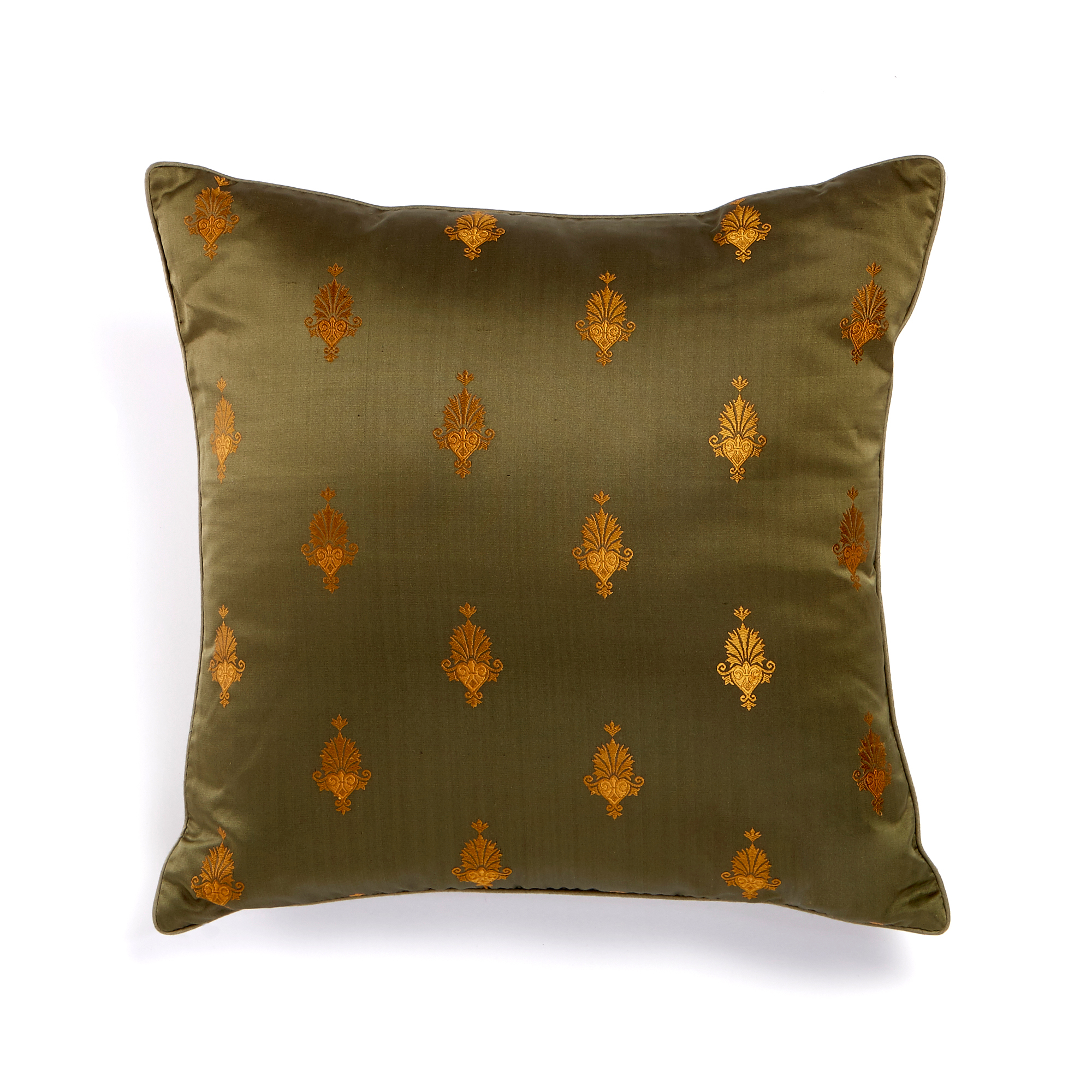 Leena Olive Pattern Pillow