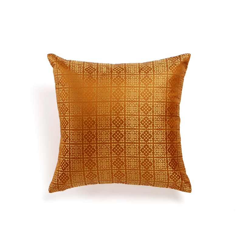 Sona Golden Tile Pattern Pillow