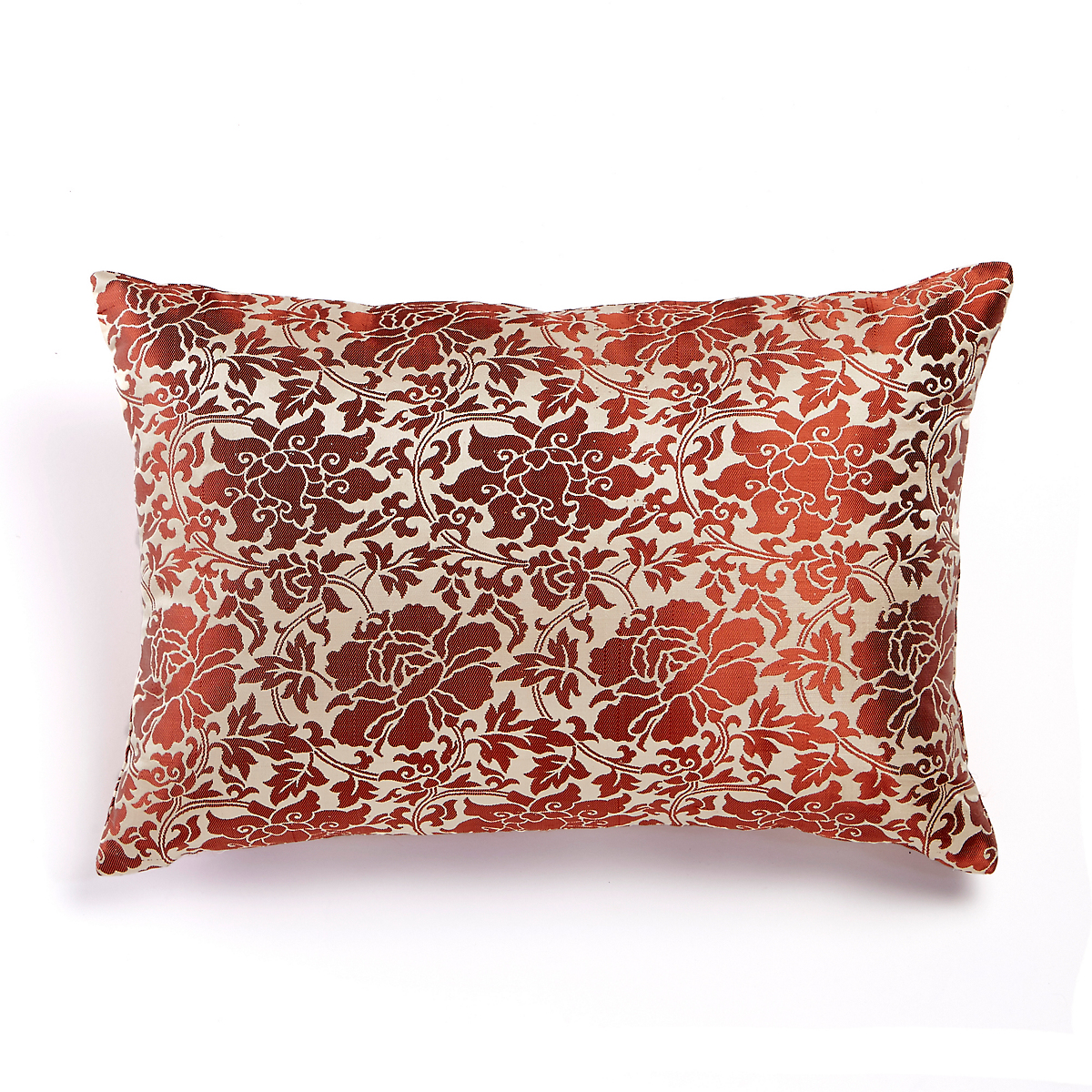 Brinda Orange Floral Pillow