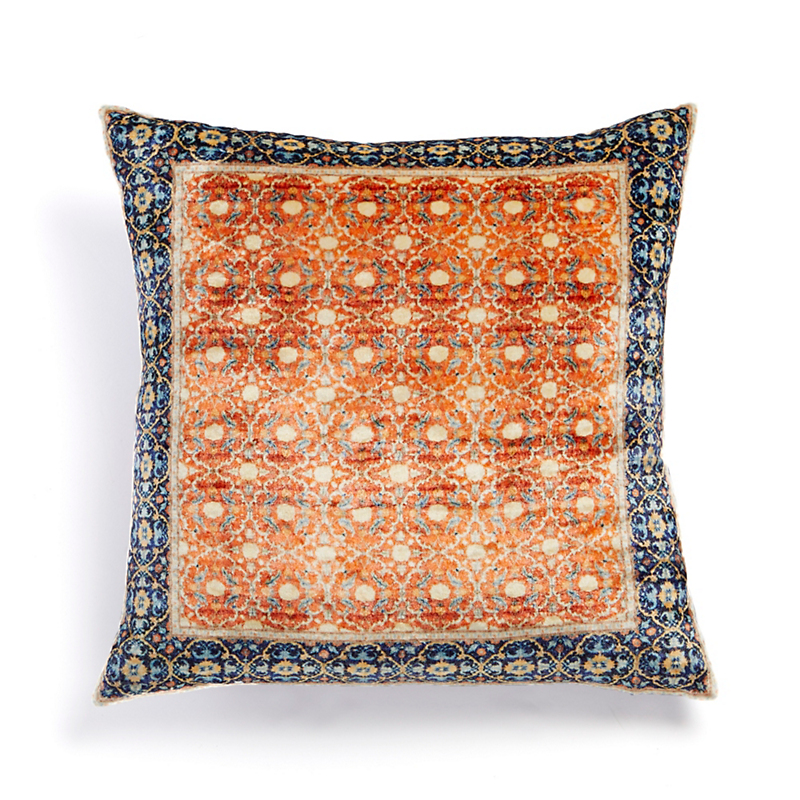 Velvet Persian Zari Rug Pillow