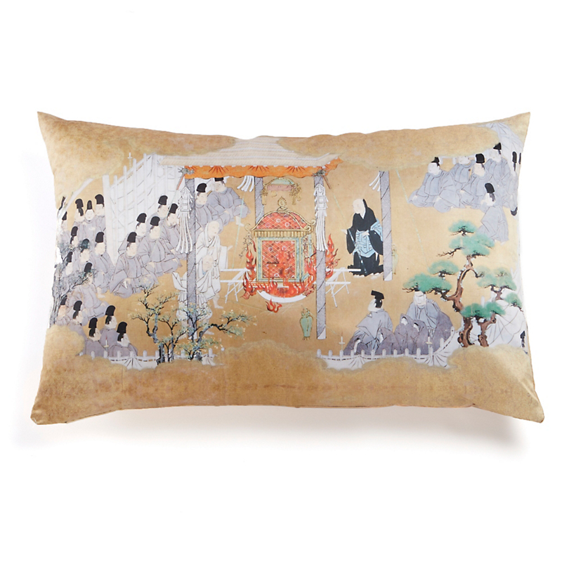 Edo Period 'Congregation With Emperor' Pillow