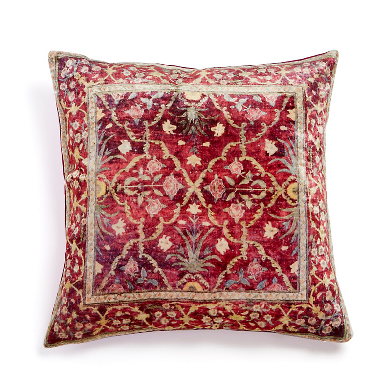 Kashan Velvet Rug Pillow