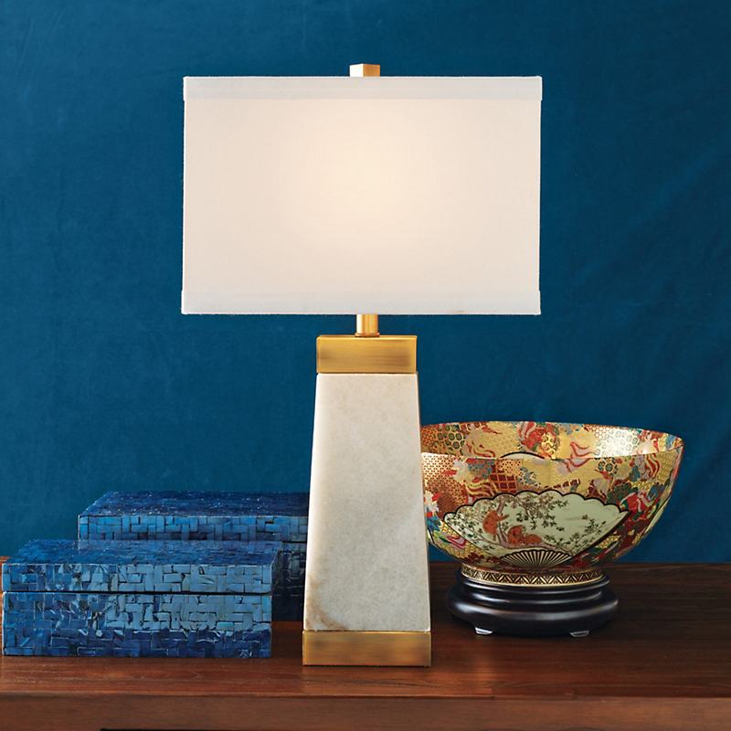 Holden White Marble Lamp