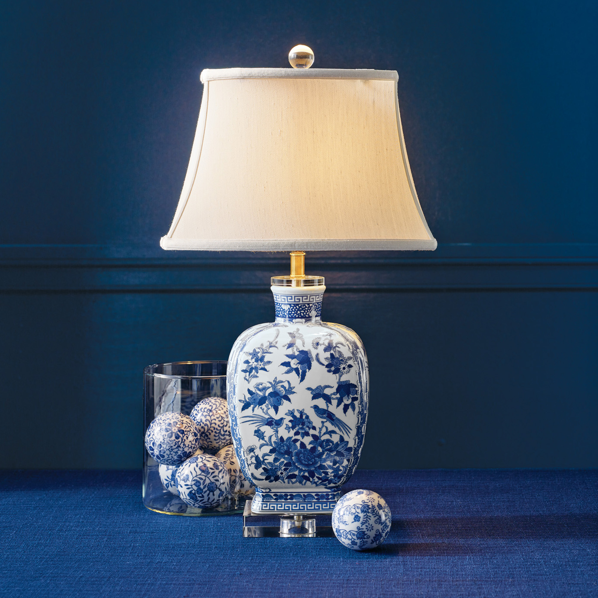 Blue & White Newport Lamp