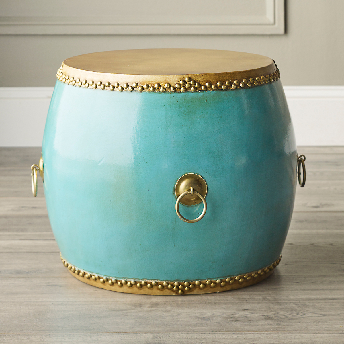 Turquoise Drum Table