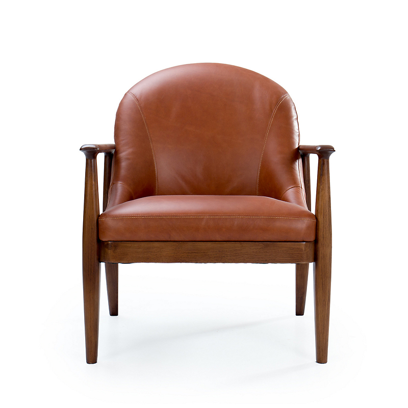 Maria Yee Elena Leather Chair, Sienna