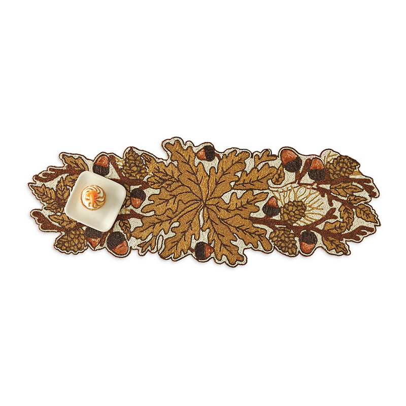 Acorn & Pinecone Beaded Runner