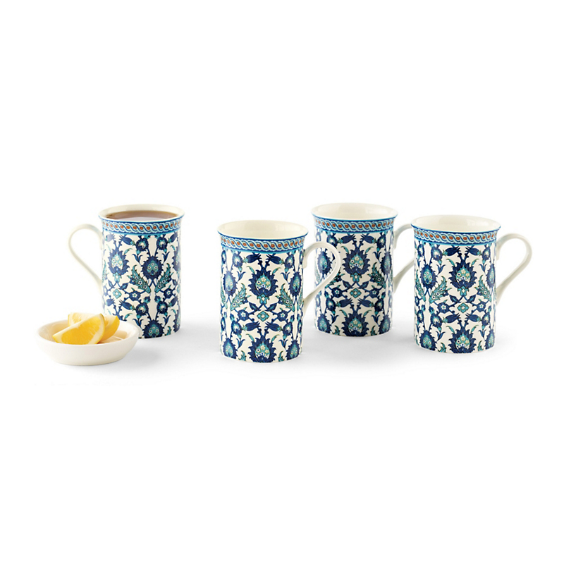 Granada Blue Mugs, Set Of 4