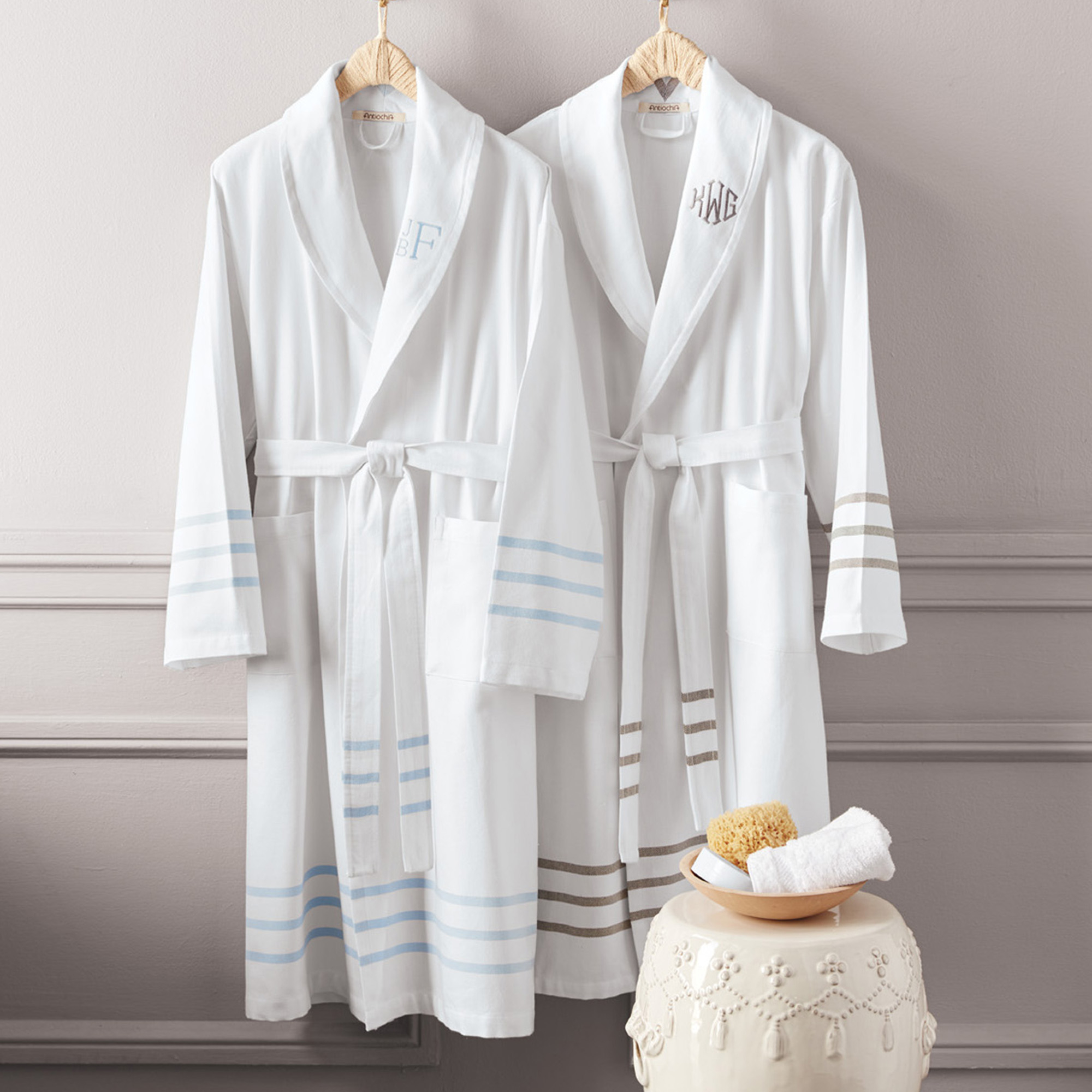 Turkish Cotton Striped Robe