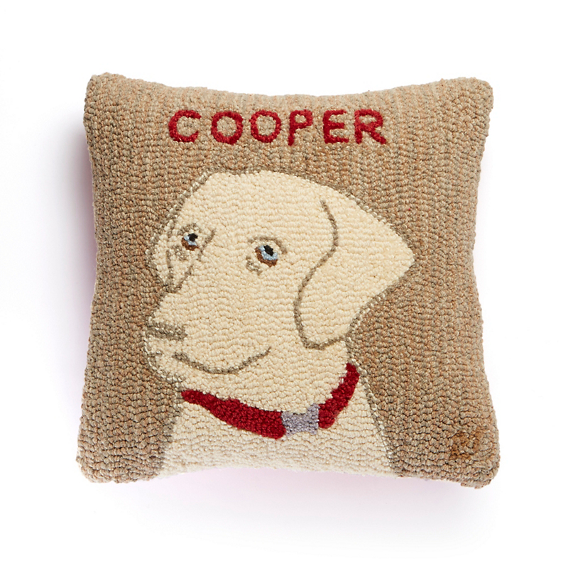 Yellow Labrador Personalized Pillow