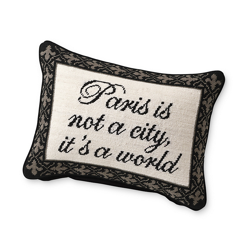 Paris Is ... Needlepoint Pillow