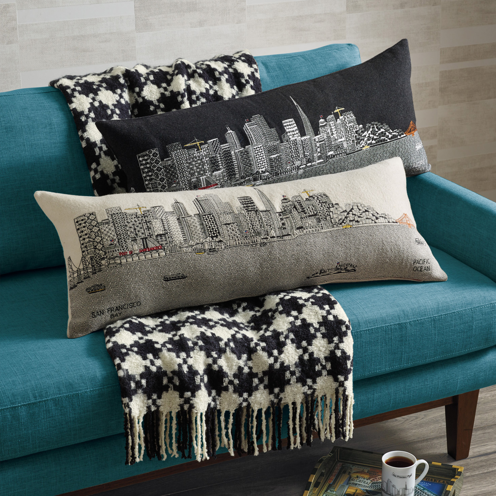 City Skyline Pillow, San Francisco