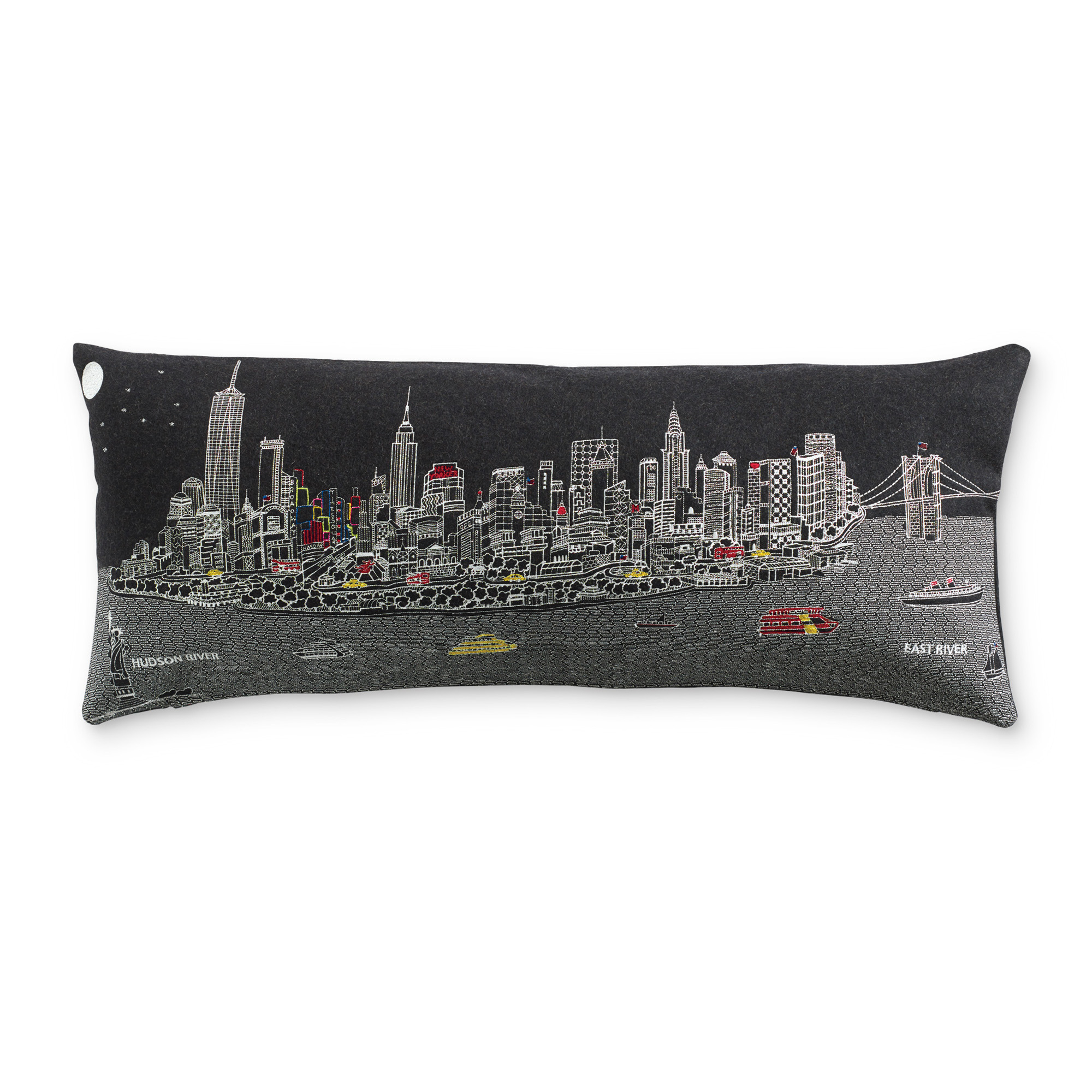 City Skyline Pillow, New York