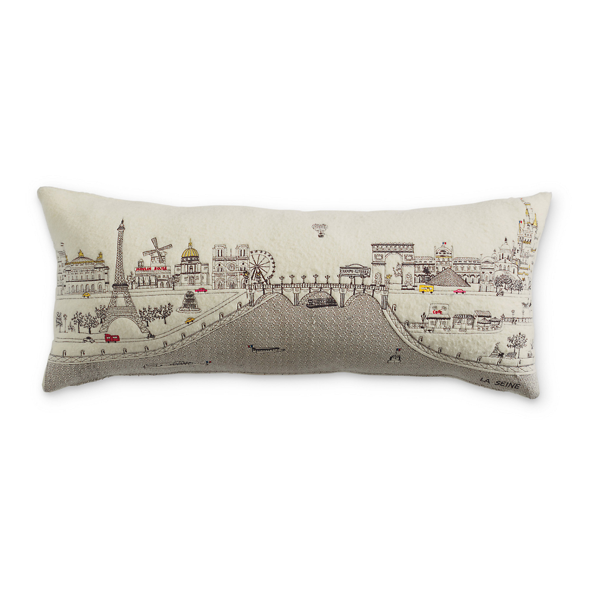 City Skyline Pillow, Paris