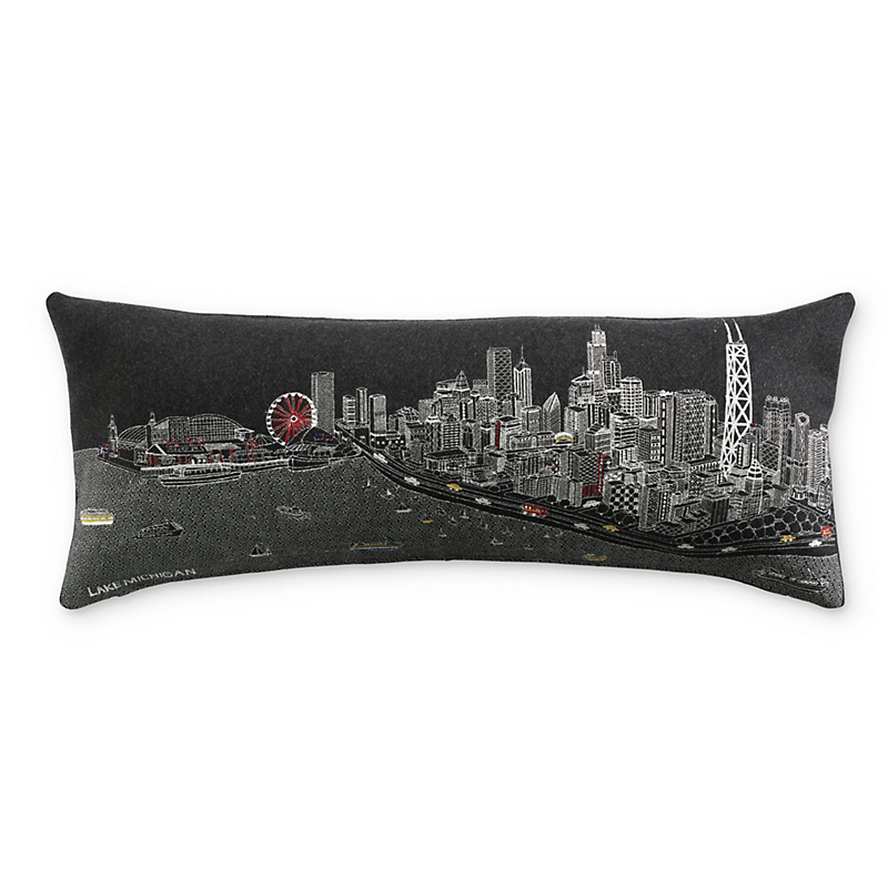 City Skyline Pillow, Chicago