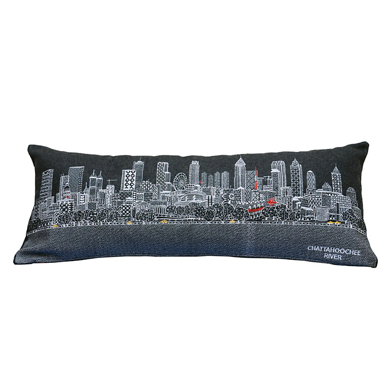 City Skyline Pillow, Atlanta