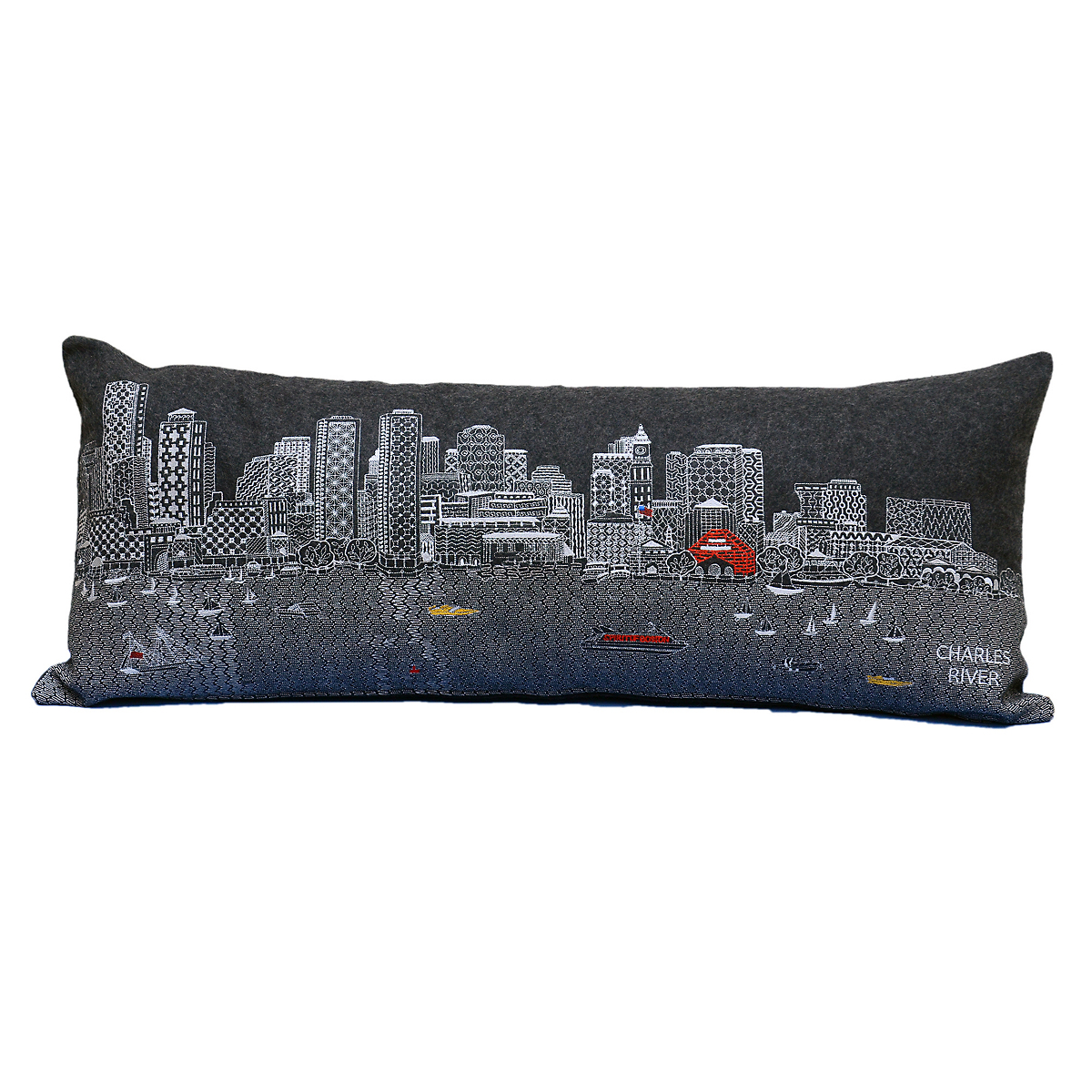City Skyline Pillow, Boston