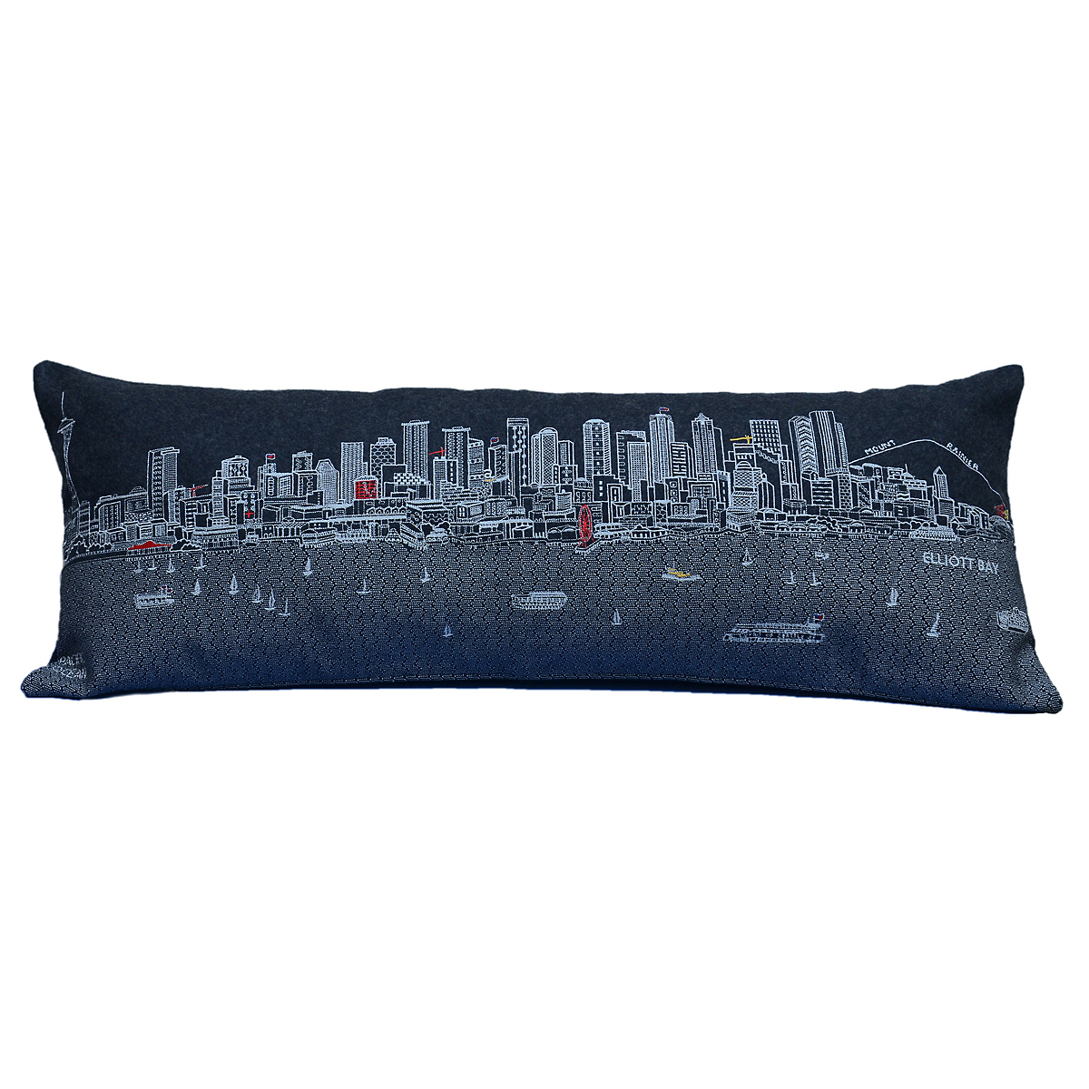 City Skyline Pillow, Seattle