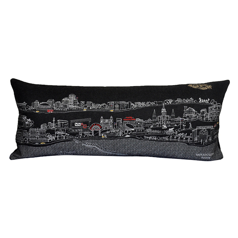 City Skyline Pillow, New Orleans