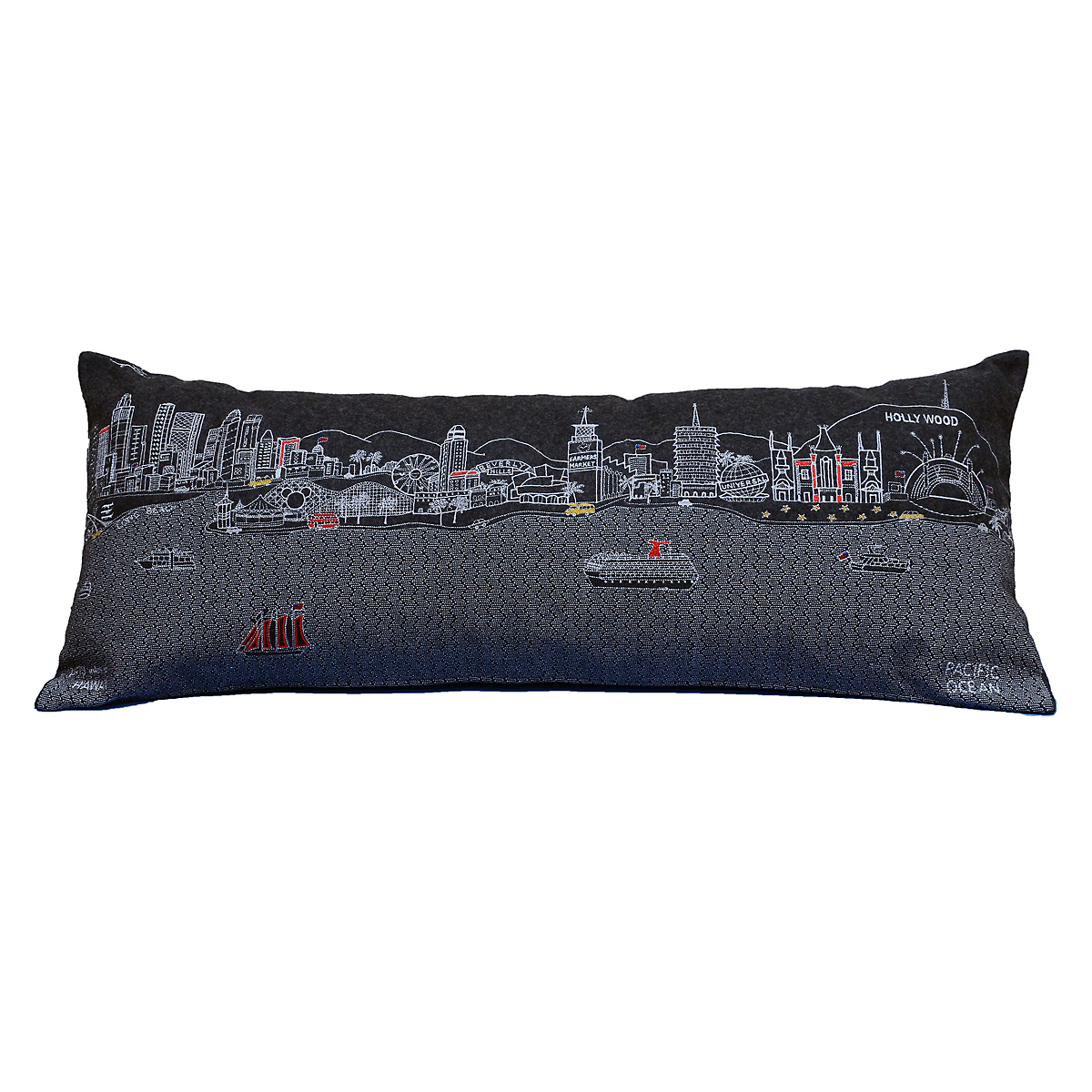 City Skyline Pillow, Los Angeles